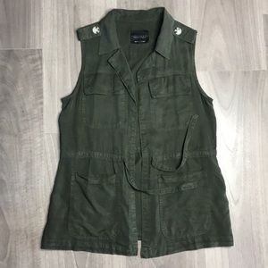 Sanctuary Heritage Military Hunter Green Army Vest